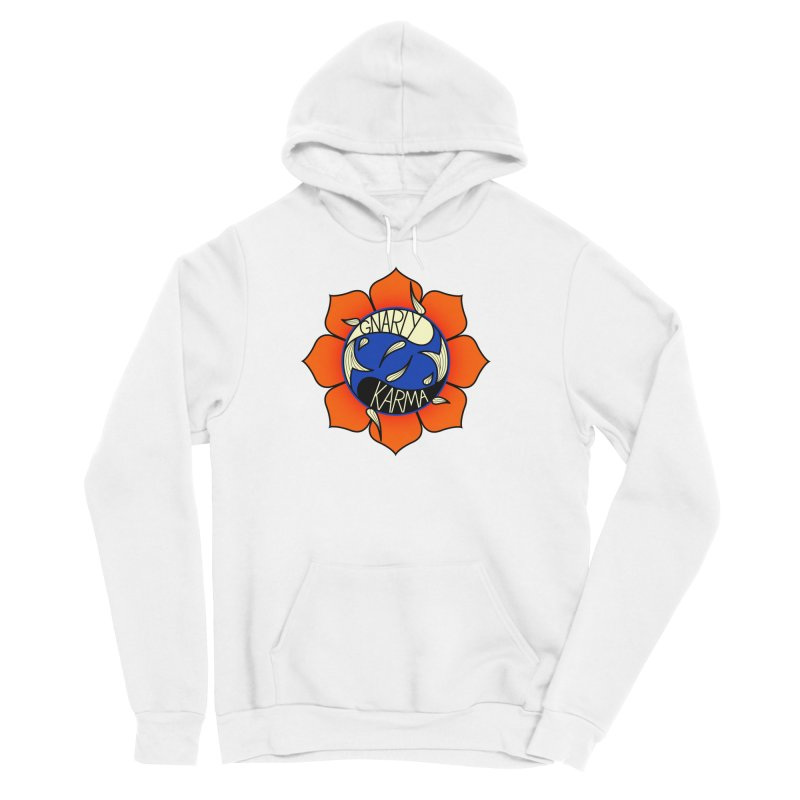 Gnarly Logo on Sweatshirts & Hoodies Men's Sponge Fleece Pullover Hoody by Gnarly Karma's Merch Shop