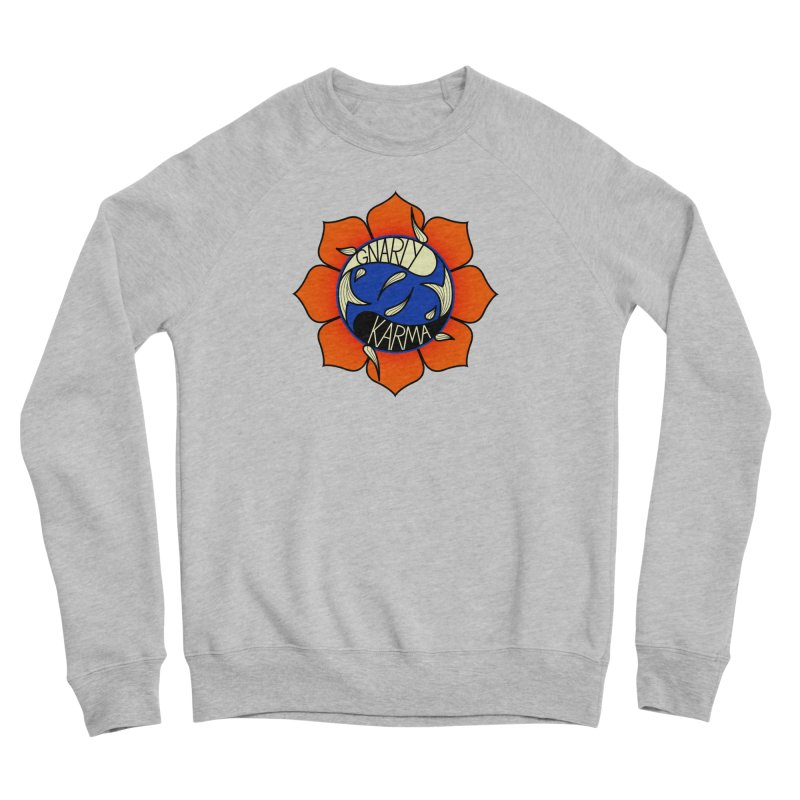 Gnarly Logo on Sweatshirts & Hoodies Women's Sponge Fleece Sweatshirt by Gnarly Karma's Merch Shop