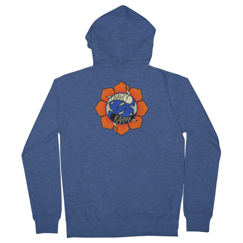 Gnarly Logo on Sweatshirts & Hoodies Women's French Terry Zip-Up Hoody by Gnarly Karma's Merch Shop