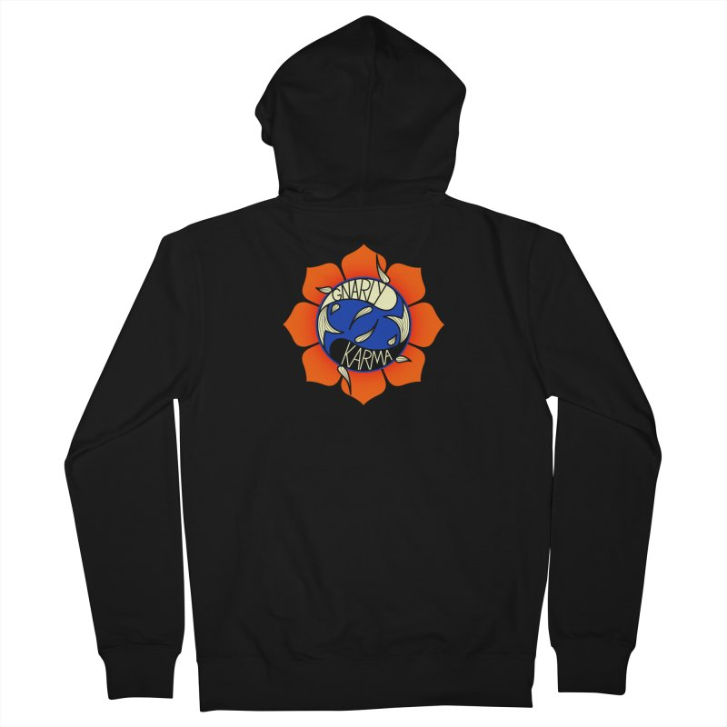 Gnarly Logo on Sweatshirts & Hoodies Men's French Terry Zip-Up Hoody by Gnarly Karma's Merch Shop
