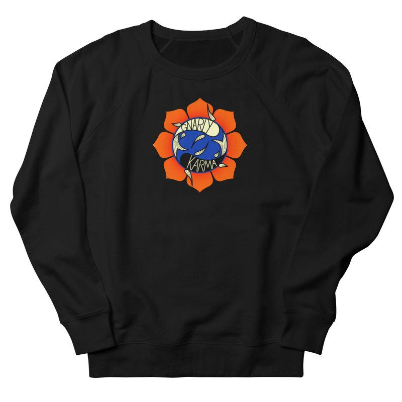 Gnarly Logo on Sweatshirts & Hoodies Women's French Terry Sweatshirt by Gnarly Karma's Merch Shop