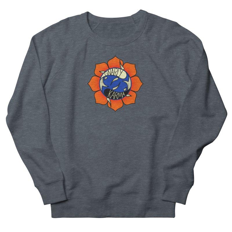Gnarly Logo on Sweatshirts & Hoodies Men's French Terry Sweatshirt by Gnarly Karma's Merch Shop