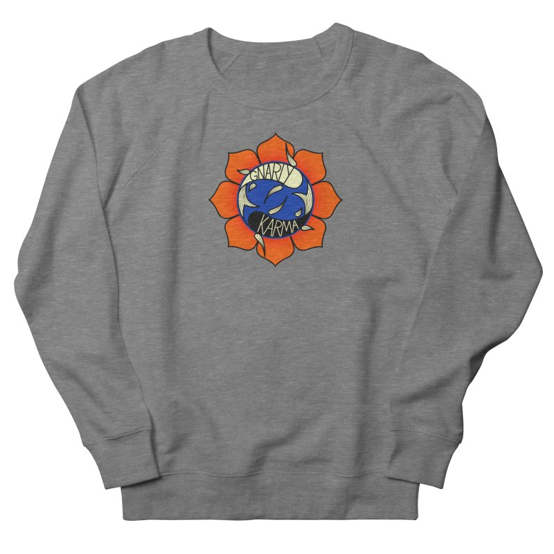 Gnarly Logo on Sweatshirts & Hoodies Men's French Terry Sweatshirt by Gnarly Karma's Merch Shop