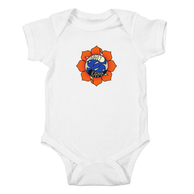 Gnarly Logo on Sweatshirts & Hoodies Kids Baby Bodysuit by Gnarly Karma's Merch Shop