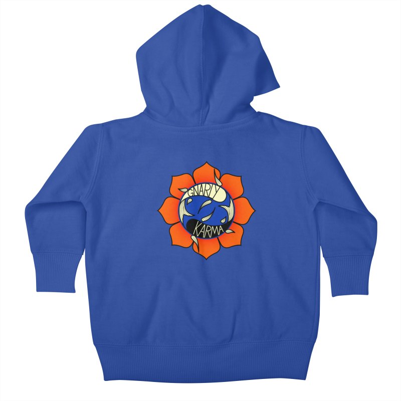 Gnarly Logo on Sweatshirts & Hoodies Kids Baby Zip-Up Hoody by Gnarly Karma's Merch Shop