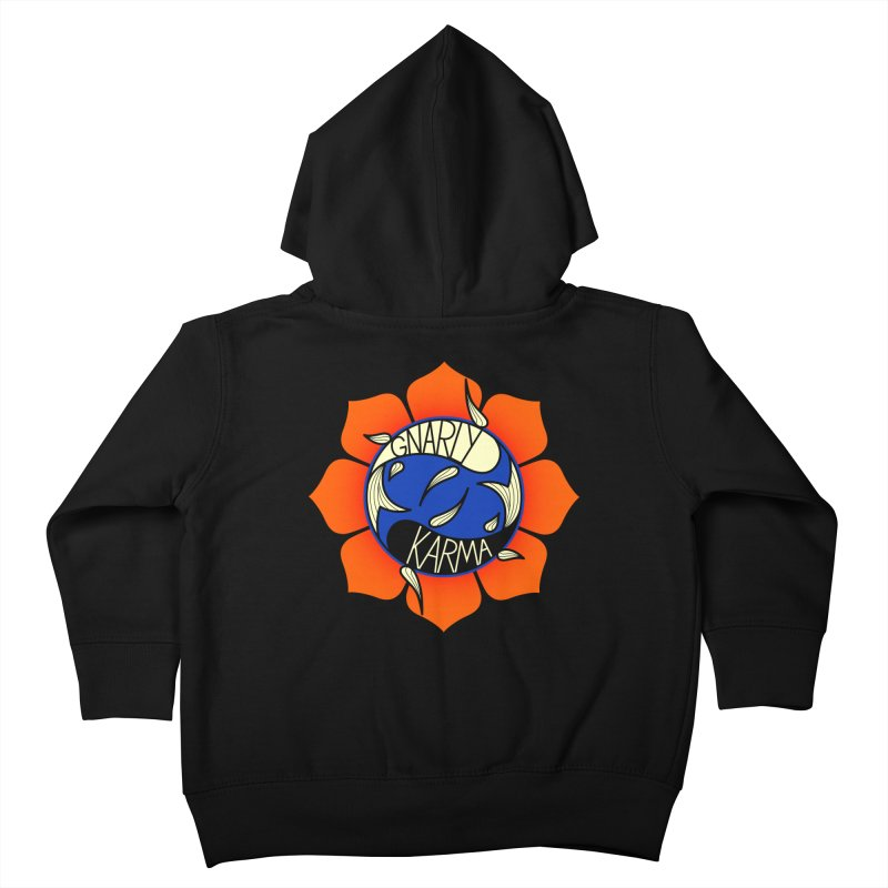 Gnarly Logo on Sweatshirts & Hoodies Kids Toddler Zip-Up Hoody by Gnarly Karma's Merch Shop