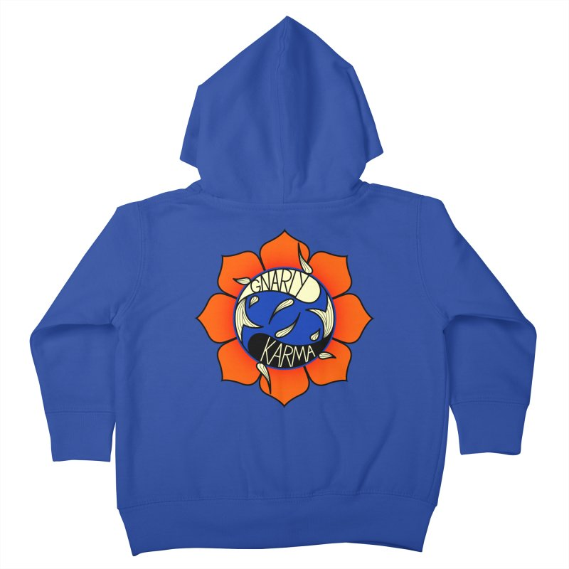 Gnarly Logo on Sweatshirts & Hoodies Kids Toddler Zip-Up Hoody by Gnarly Karma's Merch Shop