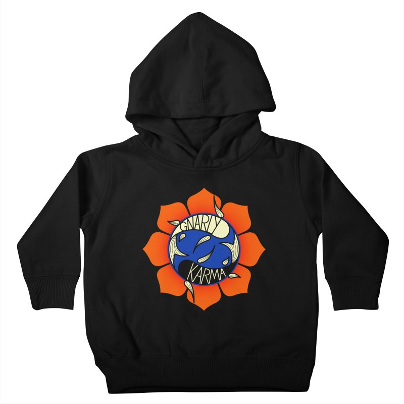 Gnarly Logo on Sweatshirts & Hoodies Kids Toddler Pullover Hoody by Gnarly Karma's Merch Shop