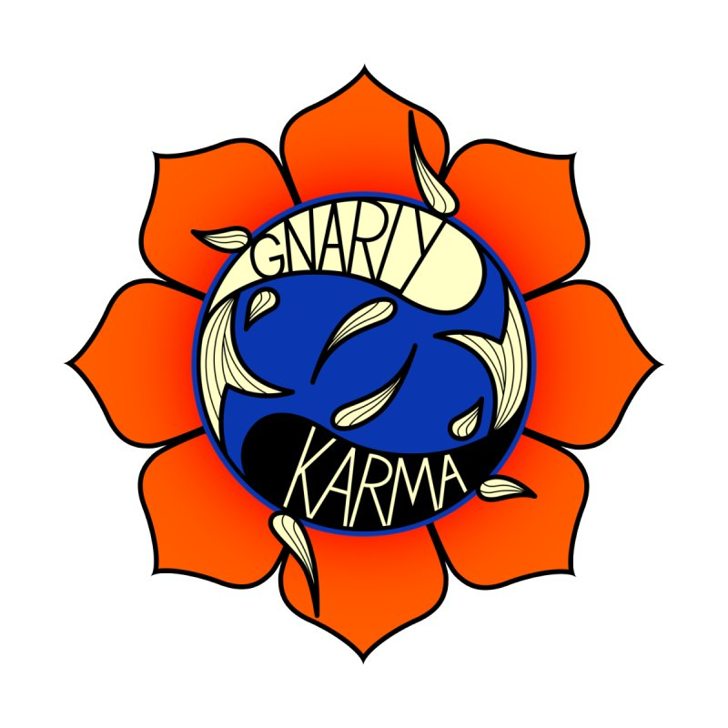 Gnarly Logo on Accessories & Other Merch Home Rug by Gnarly Karma's Merch Shop
