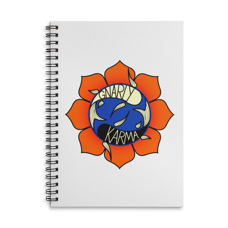 Gnarly Logo on Accessories & Other Merch Accessories Lined Spiral Notebook by Gnarly Karma's Merch Shop