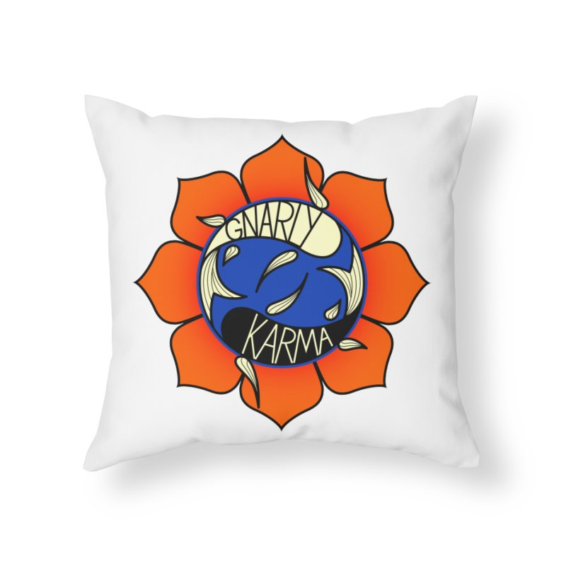 Gnarly Logo on Accessories & Other Merch Home Throw Pillow by Gnarly Karma's Merch Shop