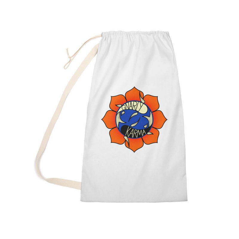 Gnarly Logo on Accessories & Other Merch Accessories Laundry Bag Bag by Gnarly Karma's Merch Shop
