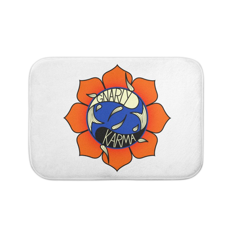 Gnarly Logo on Accessories & Other Merch Home Bath Mat by Gnarly Karma's Merch Shop