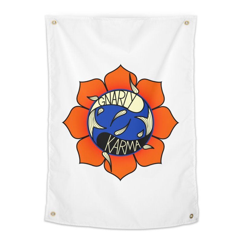 Gnarly Logo on Accessories & Other Merch Home Tapestry by Gnarly Karma's Merch Shop