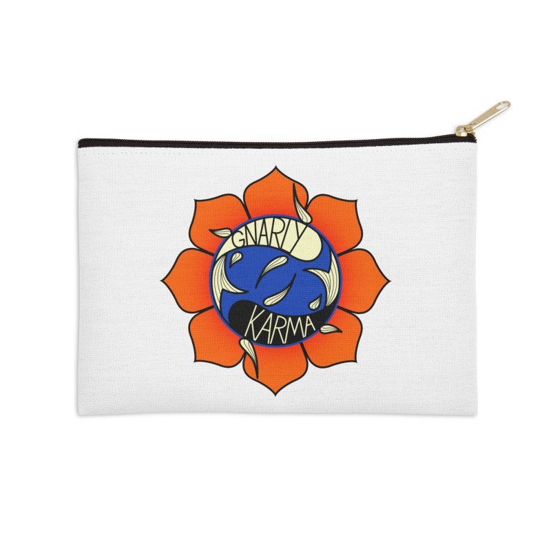 Gnarly Logo on Accessories & Other Merch Accessories Zip Pouch by Gnarly Karma's Merch Shop
