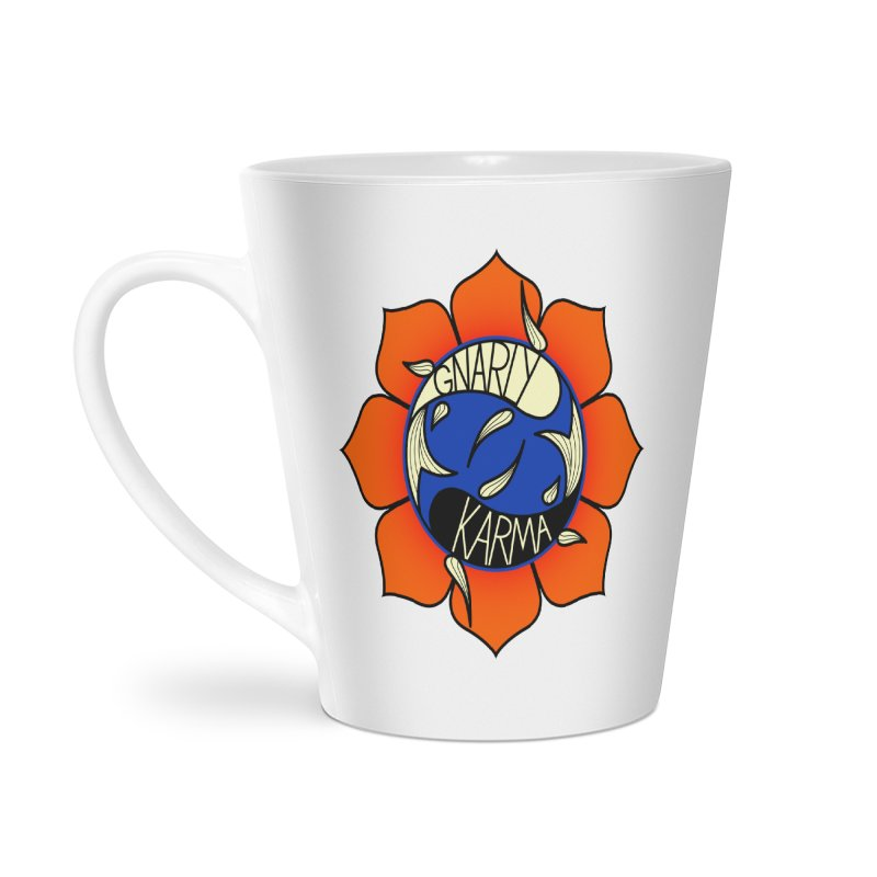 Gnarly Logo on Accessories & Other Merch Accessories Latte Mug by Gnarly Karma's Merch Shop