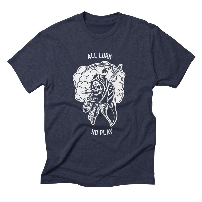 All Lurk Men's Triblend T-Shirt by The Gnashed Teethery