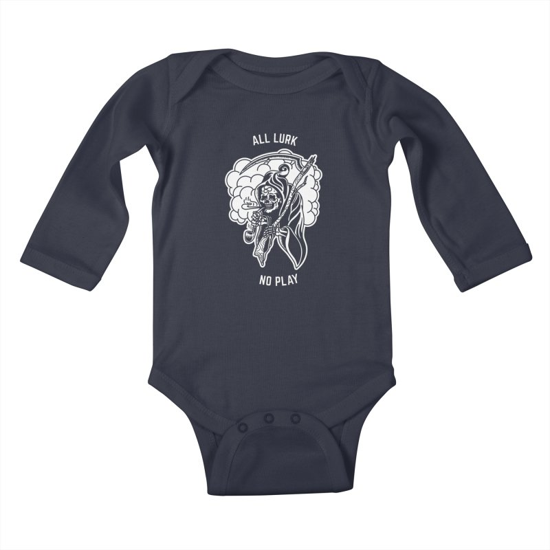 All Lurk Kids Baby Longsleeve Bodysuit by The Gnashed Teethery