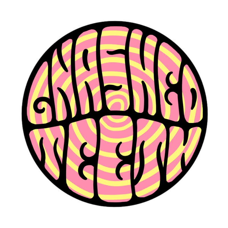 Gnashed Teeth Trippy Logo Accessories Sticker by The Gnashed Teethery