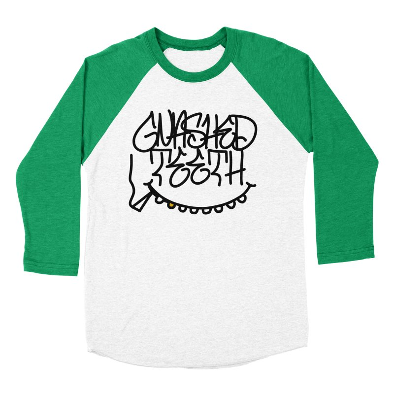 Gnashed Handstyle Women's Baseball Triblend Longsleeve T-Shirt by The Gnashed Teethery
