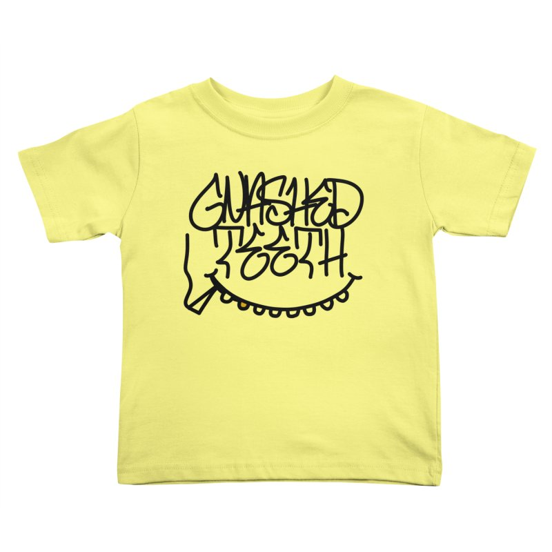 Gnashed Handstyle Kids Toddler T-Shirt by The Gnashed Teethery