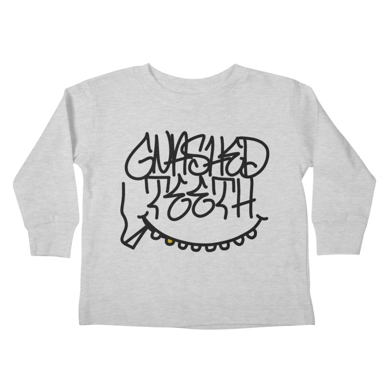 Gnashed Handstyle Kids Toddler Longsleeve T-Shirt by The Gnashed Teethery