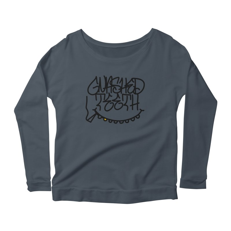 Gnashed Handstyle Women's Scoop Neck Longsleeve T-Shirt by The Gnashed Teethery