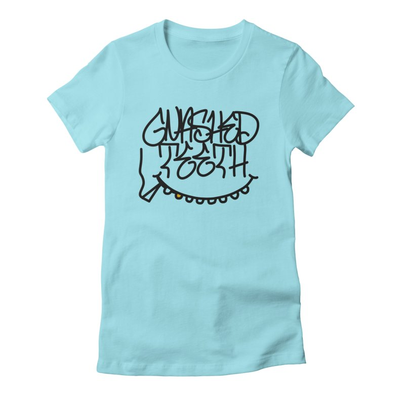 Gnashed Handstyle Women's Fitted T-Shirt by The Gnashed Teethery