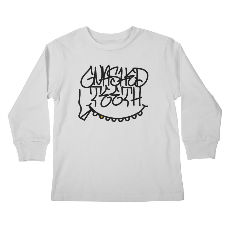 Gnashed Handstyle Kids Longsleeve T-Shirt by The Gnashed Teethery