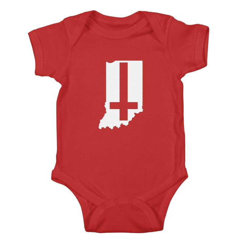 My Indiana Kids Baby Bodysuit by The Gnashed Teethery