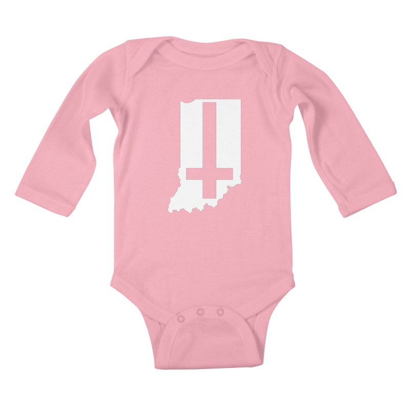 My Indiana Kids Baby Longsleeve Bodysuit by The Gnashed Teethery