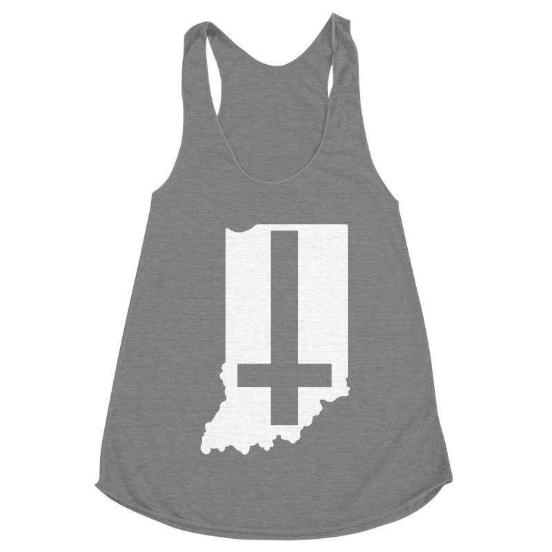 My Indiana Women's Racerback Triblend Tank by The Gnashed Teethery