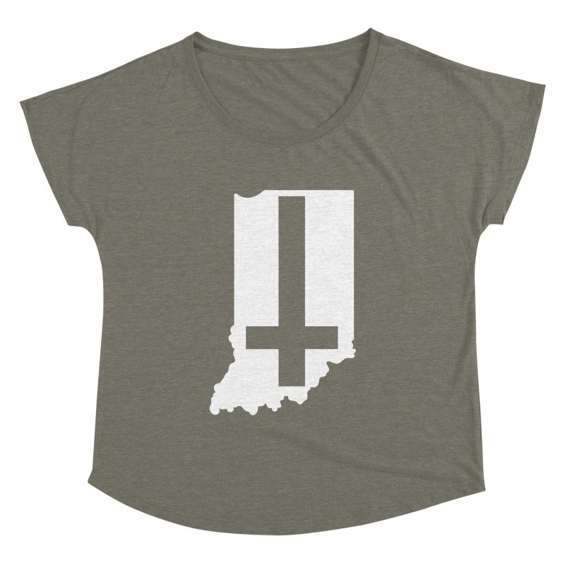 My Indiana Women's Dolman Scoop Neck by The Gnashed Teethery