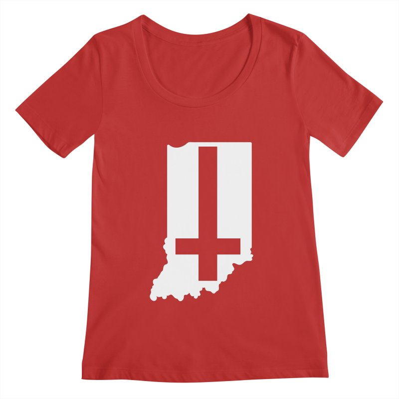 My Indiana Women's Regular Scoop Neck by The Gnashed Teethery