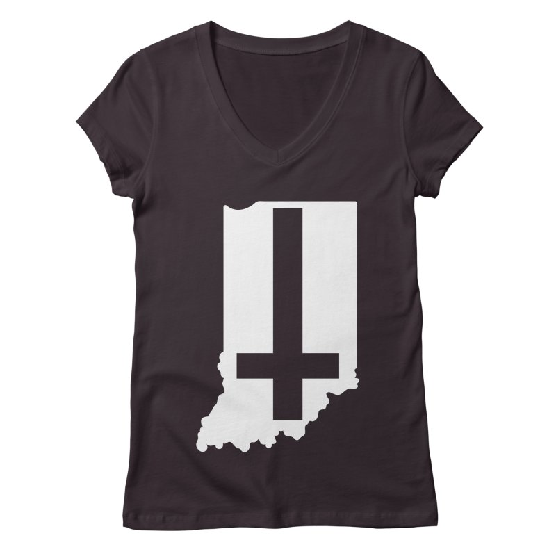 My Indiana Women's Regular V-Neck by The Gnashed Teethery