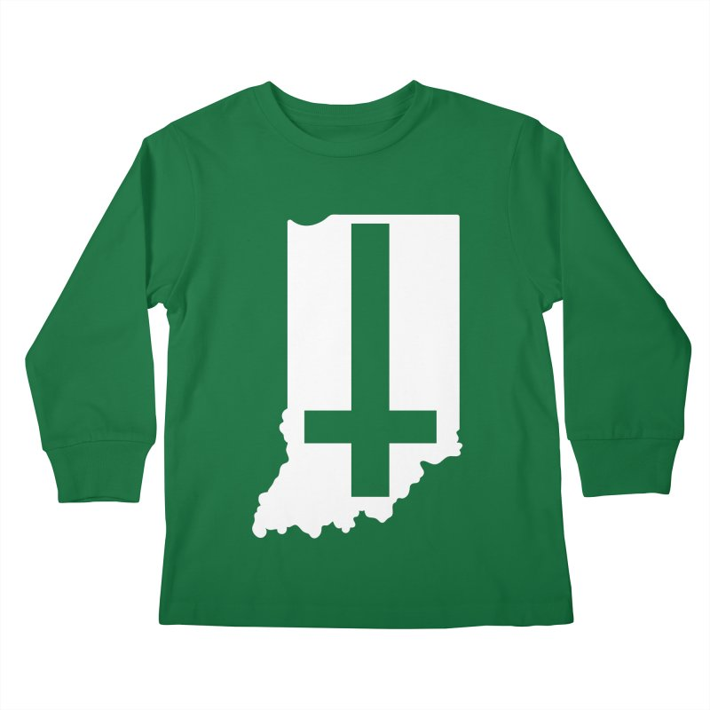 My Indiana Kids Longsleeve T-Shirt by The Gnashed Teethery