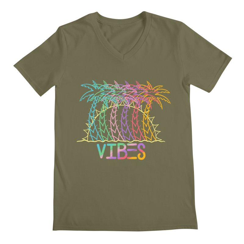 Vibes Men's Regular V-Neck by The Gnashed Teethery