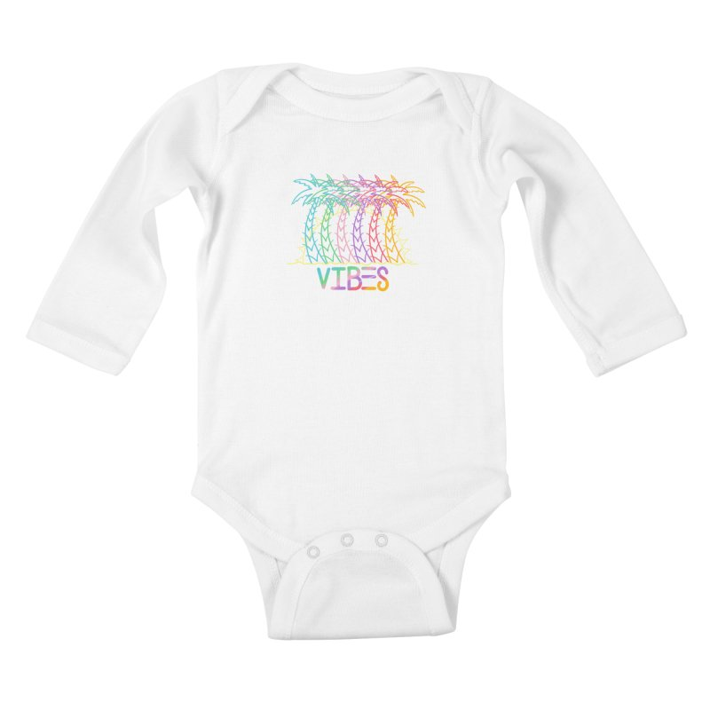 Vibes Kids Baby Longsleeve Bodysuit by The Gnashed Teethery