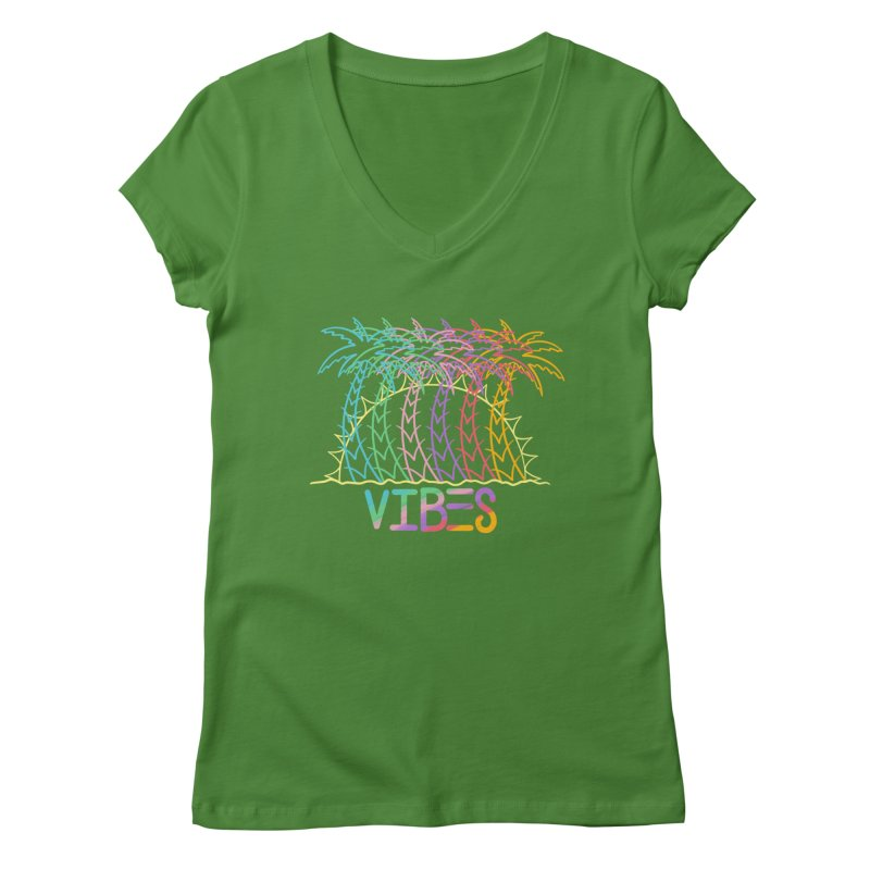 Vibes Women's Regular V-Neck by The Gnashed Teethery