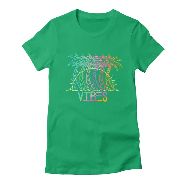 Vibes Women's Fitted T-Shirt by The Gnashed Teethery
