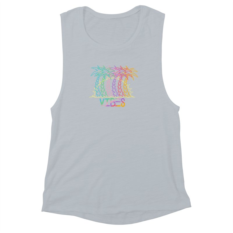 Vibes Women's Muscle Tank by The Gnashed Teethery