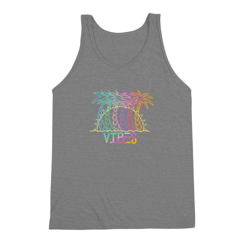 Vibes Men's Triblend Tank by The Gnashed Teethery