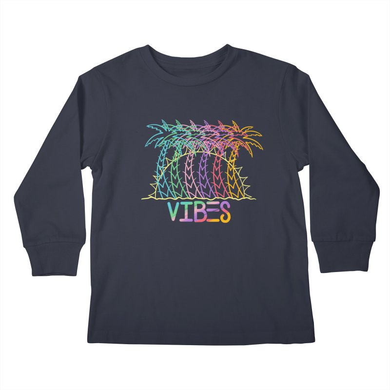 Vibes Kids Longsleeve T-Shirt by The Gnashed Teethery