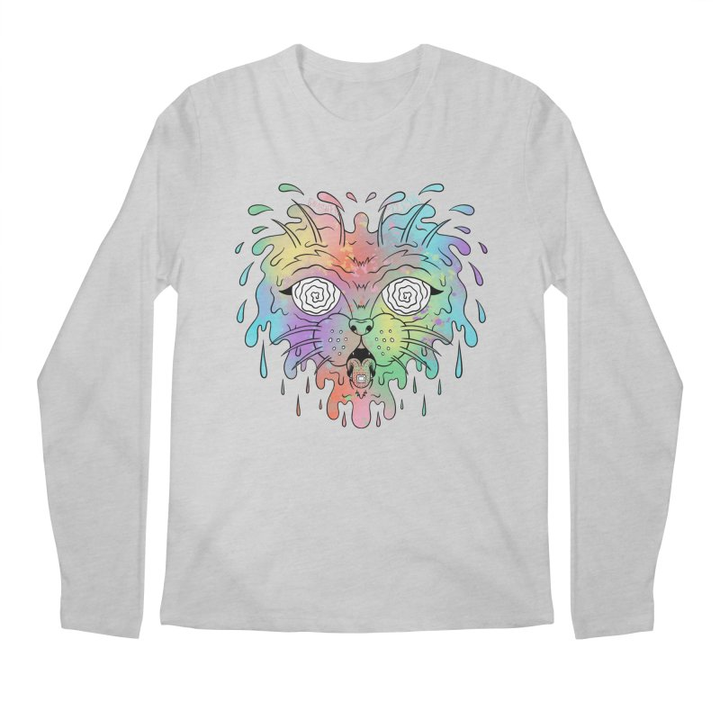 Acid Cat Men's Regular Longsleeve T-Shirt by The Gnashed Teethery