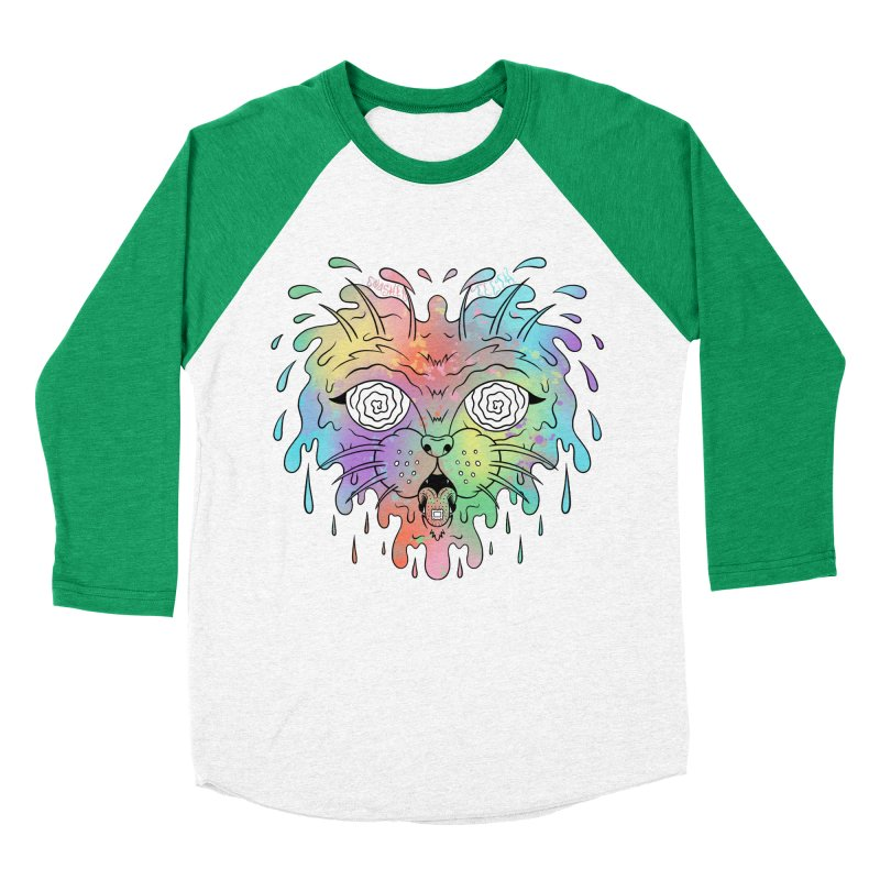Acid Cat Women's Baseball Triblend Longsleeve T-Shirt by The Gnashed Teethery