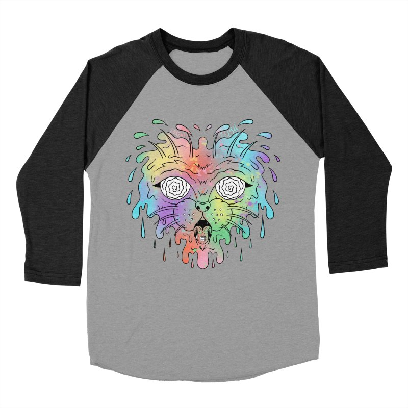 Acid Cat Men's Baseball Triblend Longsleeve T-Shirt by The Gnashed Teethery