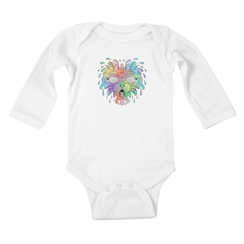 Acid Cat Kids Baby Longsleeve Bodysuit by The Gnashed Teethery