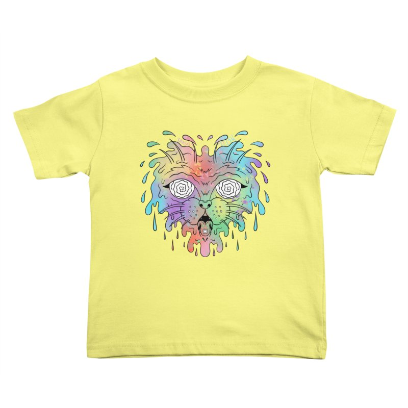Acid Cat Kids Toddler T-Shirt by The Gnashed Teethery