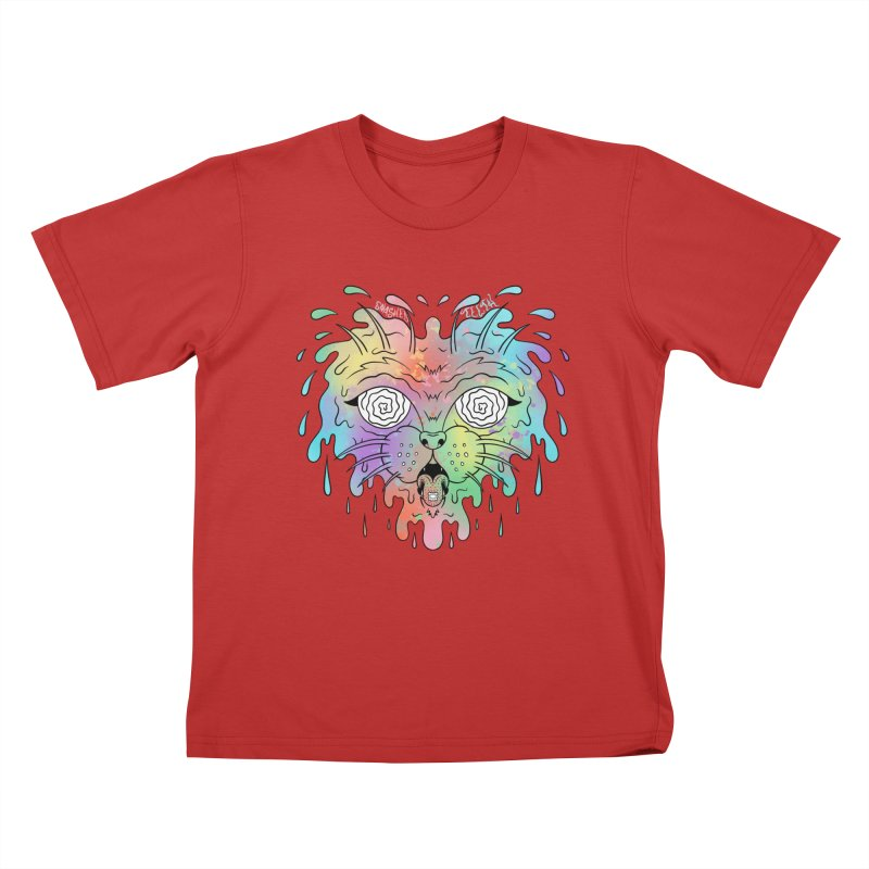 Acid Cat Kids T-Shirt by The Gnashed Teethery