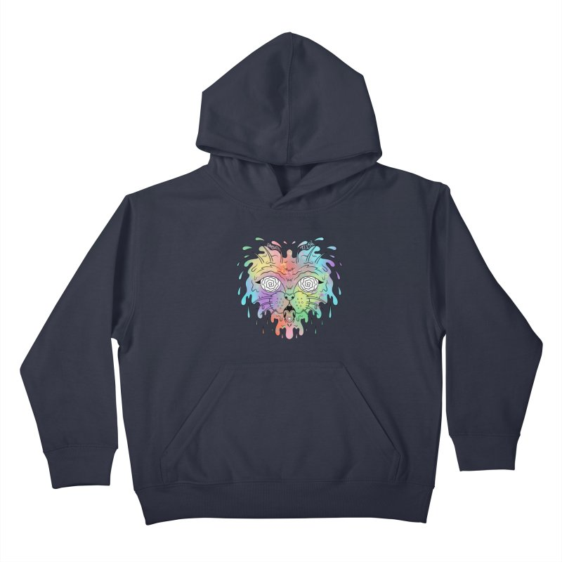 Acid Cat Kids Pullover Hoody by The Gnashed Teethery